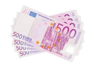 Festgeldkonto Tagesgeldkonto Geldscheine 500 Euro